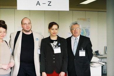 Д. Лапатухина (США), А. Иванив (Украина), С. Тишлер (Эстония) и В. Глаз  (США) в Берлинском Конгресс-Центре (2005).