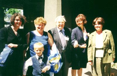 Н.Е. Костинская (Украина), Маттиас Дорчи (Австрия) на Венгерском Конгрессе Лиги (Будапешт, 2000).
